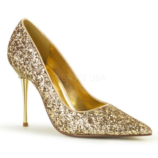 Stiletto Pumps mit Metallabsatz in gold Glitter APPEAL-20G